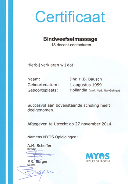 Body Aspects diploma Bindweefselmassage