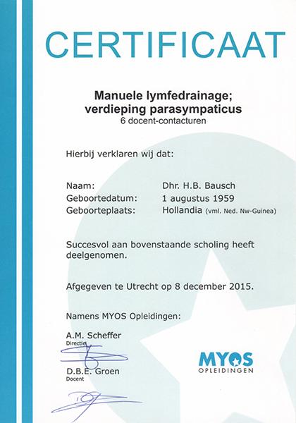 Body Aspects diploma Lymfetherapie Parasympaticus