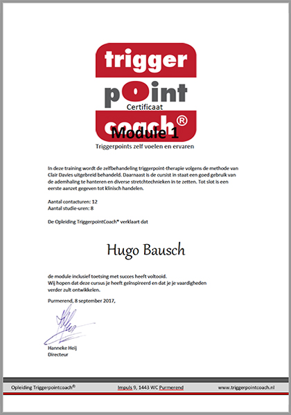 Body Aspects diploma Triggerpoint Coach Module1