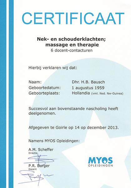 Body Aspects diploma Nek- en Schouderklachten