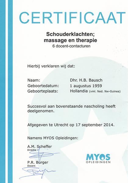 Body Aspects diploma Schouderklachten