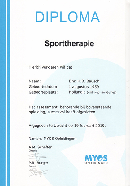 Body Aspects diploma Sporttherapie